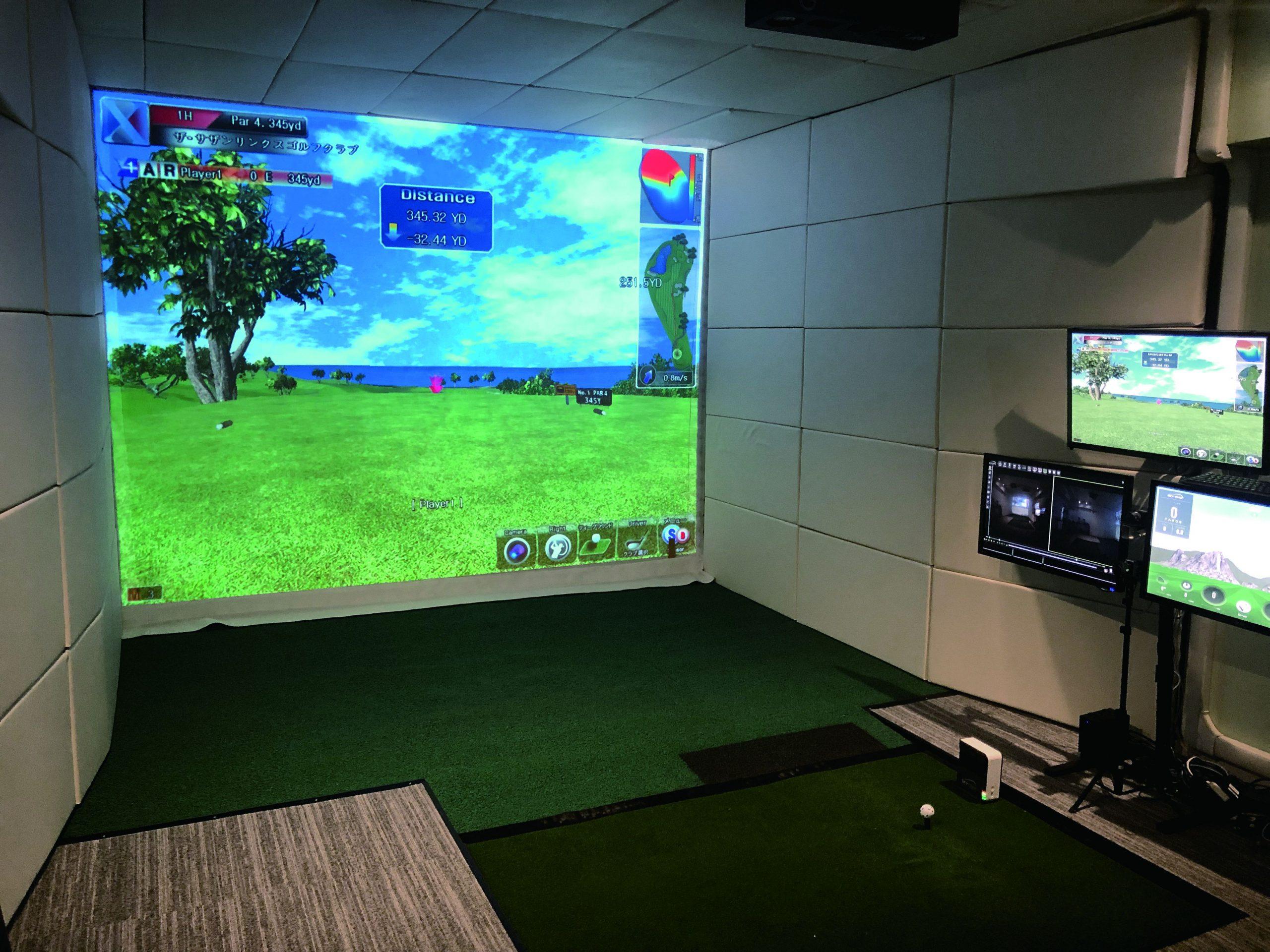 Phương án dùng Skytrak golf thành một phòng golf 3D
