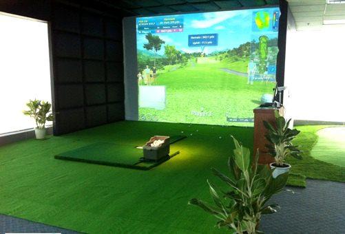 Một phòng tập golf 3d sau khi setup hoàn thiện
