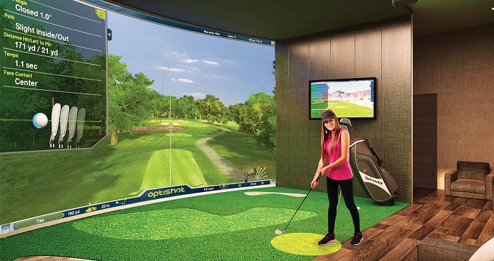 Những hình ảnh độc đáo khi tập luyện golf tại nhà với công nghệ golf 3d