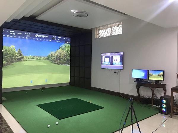 Phòng golf 3D thiết kế ốp da