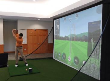 Golftech đơn vị thi công lắp đặt golf màn hình 3d trong nhà.