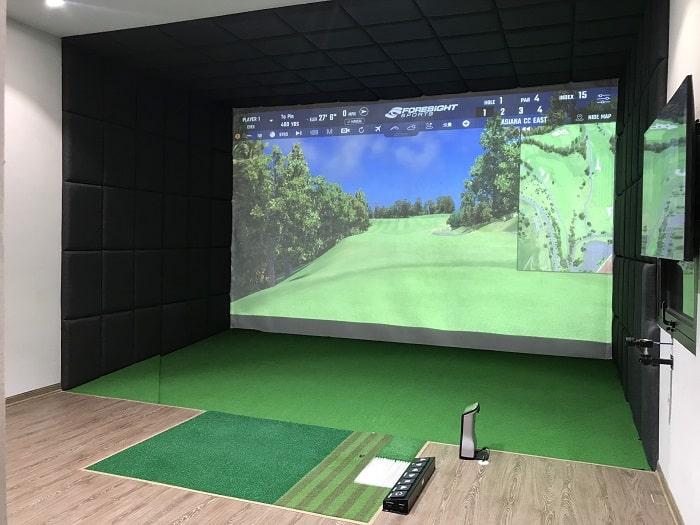 Lắp đặt chơi golf màn hình 3D trong nhà