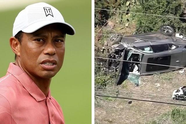Hiện chưa rõ mức độ chấn thương của Tiger Woods. Ảnh: Fox Sports