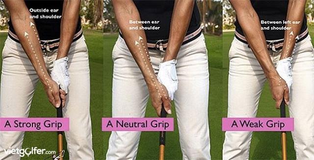 Một số cách cầm grip gậy golf