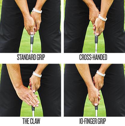Cách cầm gậy golf putter phổ biến