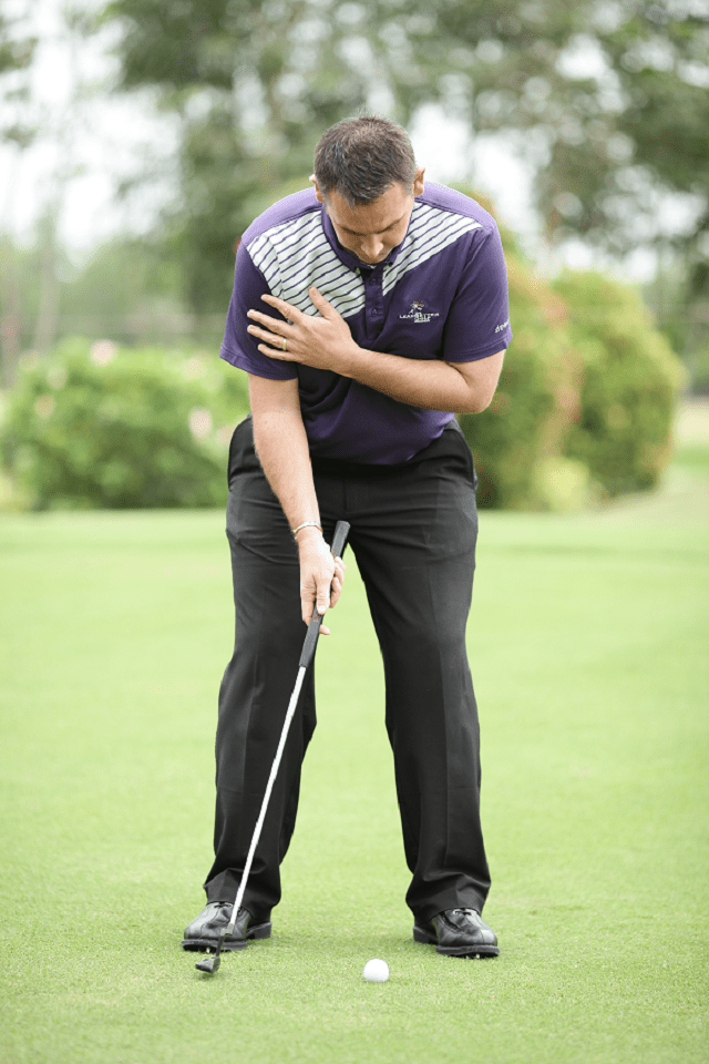 Tập putt golf - Bài tập 1 tay