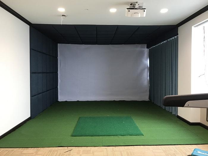 Thiết kế phòng golf 3D đơn giản, tiện dụng