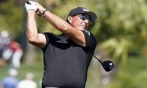 Golfer Phil Mickelson đang dẫn đầu vòng 2 PGA Championship