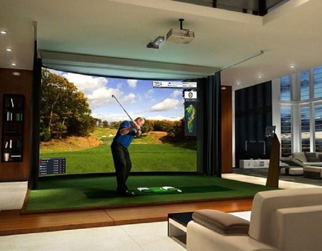 Phòng tập golf 3D tại nhà với nhiền tiện ích