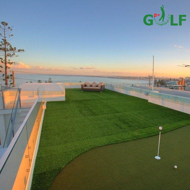 Mô hình sân mini golf trên sân thượng