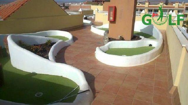 Công trình mini golf trên sân thượng diện tích nhỏ