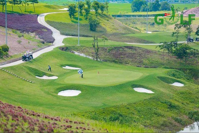 Thiết kế hài hoà của sân golf Yên Dũng
